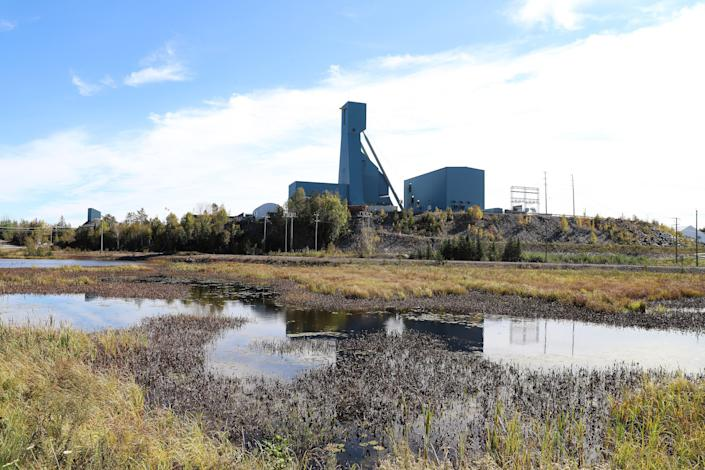 The Totten Mine near Sudbury, Ontario on Monday, 27 September  2021 where about 39 workers have been trapped since Sunday  (Canadian Press/Shutterstock)