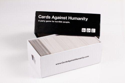"<p><strong>Cards Against Humanity LLC.</strong></p><p>amazon.com</p><p><strong>$25.00</strong></p><p><a href=""https://www.amazon.com/dp/B004S8F7QM?tag=syn-yahoo-20&ascsubtag=%5Bartid%7C10055.g.26327540%5Bsrc%7Cyahoo-us"" rel=""nofollow noopener"" target=""_blank"" data-ylk=""slk:Shop Now"" class=""link rapid-noclick-resp"">Shop Now</a></p><p>This <a href=""https://www.goodhousekeeping.com/childrens-products/board-games/g5113/best-board-games-for-adults/"" rel=""nofollow noopener"" target=""_blank"" data-ylk=""slk:card game"" class=""link rapid-noclick-resp"">card game</a> serves a more mature crowd. Players take turns trying to please the judge with the most humorous card — and often times, things hilariously get out of hand.</p>"