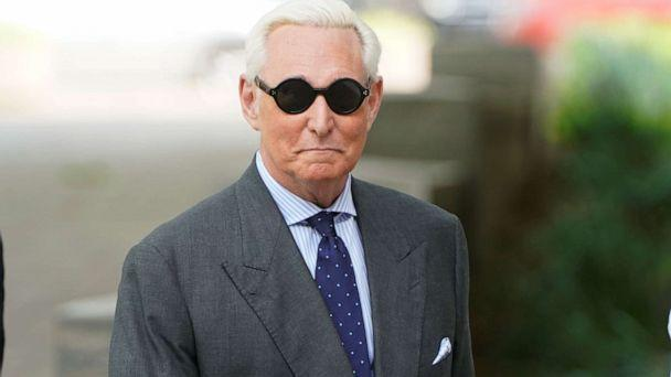 PHOTO: Roger Stone, longtime political ally of President Donald Trump, arrives for a status hearing in the criminal case against him brought by Special Counsel Robert Mueller at U.S. District Court in Washington D.C., April 30, 2019. (Joshua Roberts/Reuters)