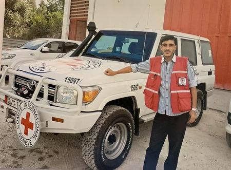 Red Cross worker Nabil Bakdounes, a Syrian national, is seen in this undated handout photo released by the International Committee of the Red Cross (ICRC) to Reuters on April 14 2019. ICRC/Handout via REUTERS