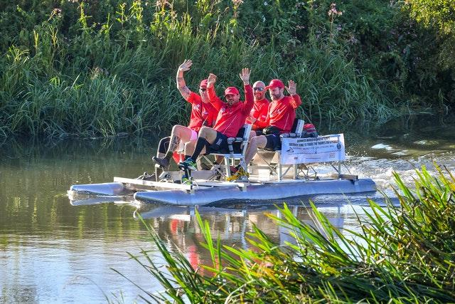The team set off on Wednesday morning aiming to break the current Guinness World Record of four days, 12 hours, 49 minutes and 17 seconds (Ben Birchall/PA).