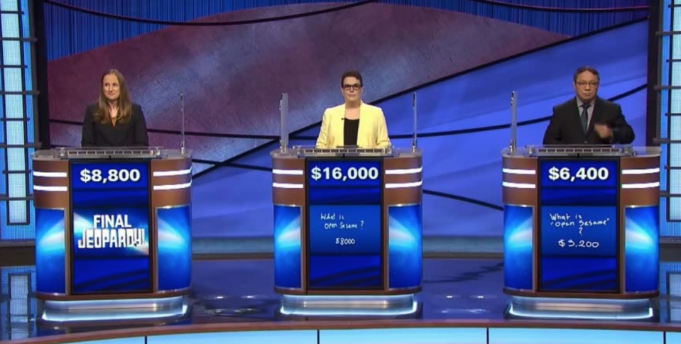 """<p>Once you pass the Anytime Test, you're placed into a pool of applicants — but even then you may not get an audition. <a href=""""https://www.jeopardy.com/be-on-j/faqs"""" rel=""""nofollow noopener"""" target=""""_blank"""" data-ylk=""""slk:Per the show's website"""" class=""""link rapid-noclick-resp"""">Per the show's website</a>, """"audition space is limited,"""" so a random selection of applicants are invited to audition.</p>"""