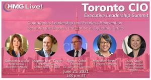 Join the top CIOs, CISOs and business technology executives from the Toronto area and across North America as we explore the role of technology leaders in working with the C-suite to help reimagine the business and develop new go-to-market models.