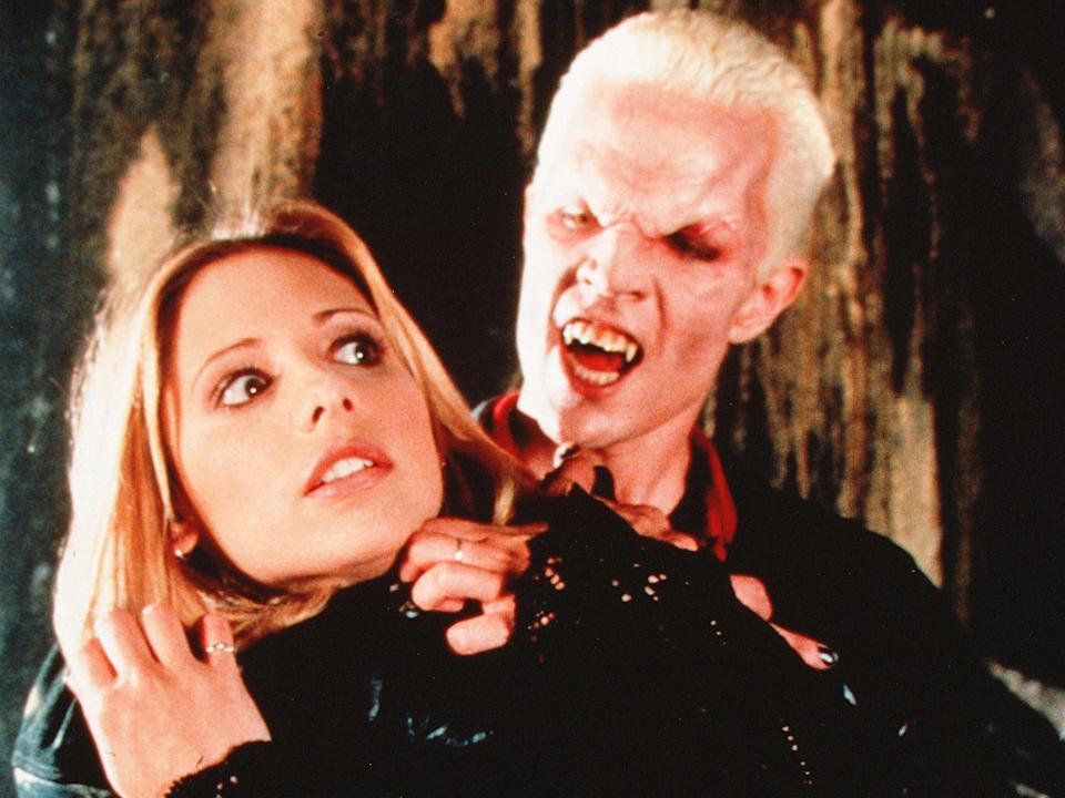 Sarah Michelle Gellar and James Marsters in Buffy the Vampire Slayer (Jerry Wolf/Fox)