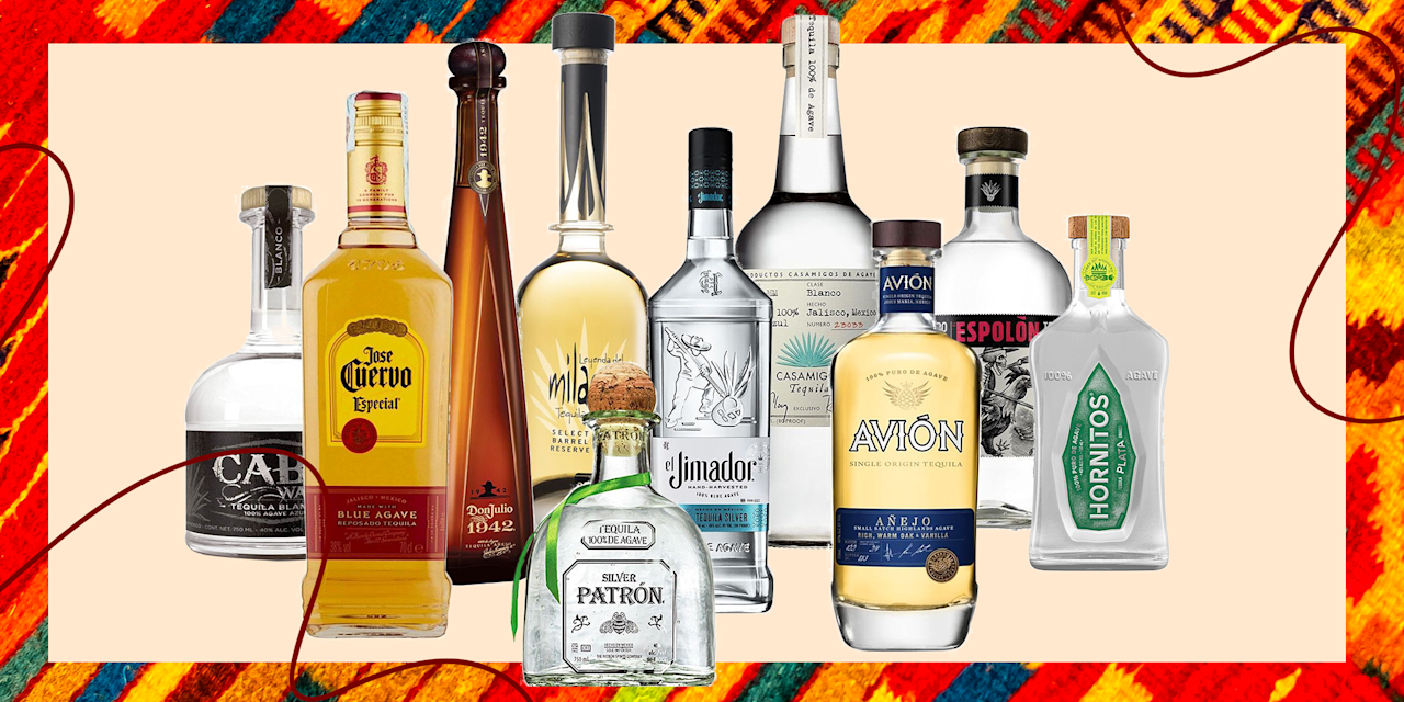 """<p>When it comes to tequila, there is way more to it than meets the eye. While margaritas are objectively delicious, tequila can be used for other <a href=""""https://www.delish.com/holiday-recipes/cinco-de-mayo/g2418/tequila-drinks-recipes/"""" target=""""_blank"""">mixed cocktails</a> and enjoyed neat or on the rocks. Depending on how you plan to drink it will help you decide what bottle to go for at the liquor store, and you'll never have to be perplexed by the number of options on the shelf with this list. But, first things first, we need to go through a little background behind the three main types of tequila: blanco, reposado, and añejo.</p><p>The difference is all in the aging process. Blanco (sometimes called silver) is un-aged tequila, and is usually bottled very soon after it's distilled. As the name suggests, blanco tequila is the clearest in color and goes well in mixed drinks or as a complement to <a href=""""https://www.delish.com/cooking/g1393/traditional-mexican-food-0710/"""" target=""""_blank"""">Mexican dishes</a>. Reposado tequilas are rested for two months to a year before being bottled up, and typically rest in oak barrels so they take on a bit of a gold color through the process. Añejo is aged for at least one year (but less than three years), giving it a gold or light brown color compared to the others. This longer aging process gives it more complex flavors that can be better appreciated when sipped alone rather than mixed into a cocktail.<br></p><p>Want something besides tequila? These are the best <a href=""""https://www.delish.com/entertaining/g31213317/best-vodka-brands/"""" target=""""_blank"""">vodkas</a> and <a href=""""https://www.delish.com/entertaining/g30705067/best-whiskey-brands/"""" target=""""_blank"""">whiskeys</a> you can buy. </p>"""