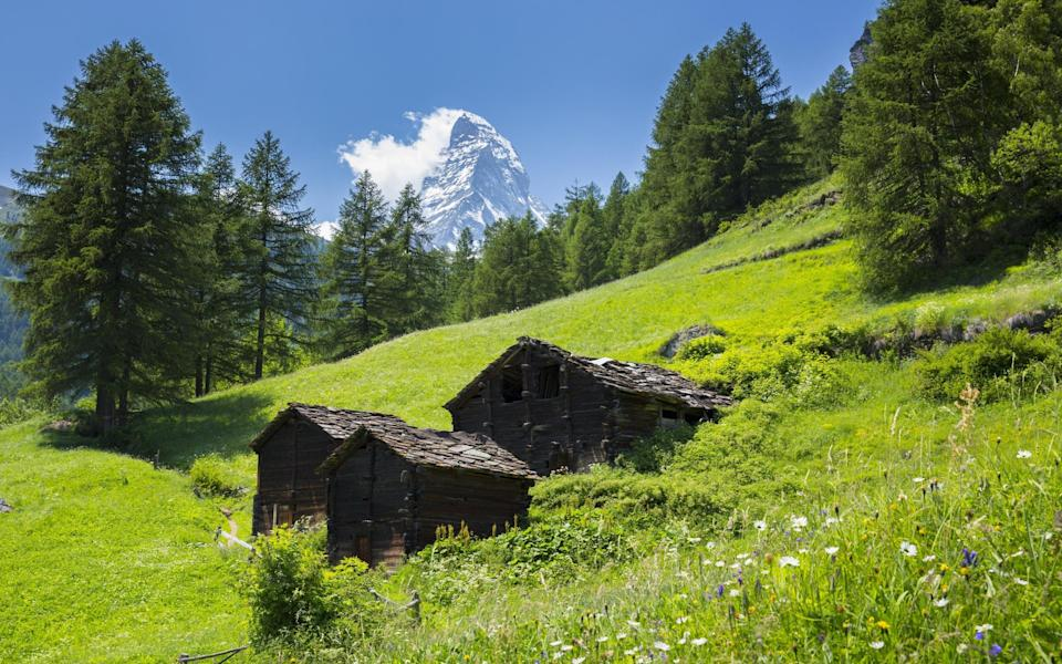 The Matterhorn towers above its neighbours in the Swiss Alps - Getty