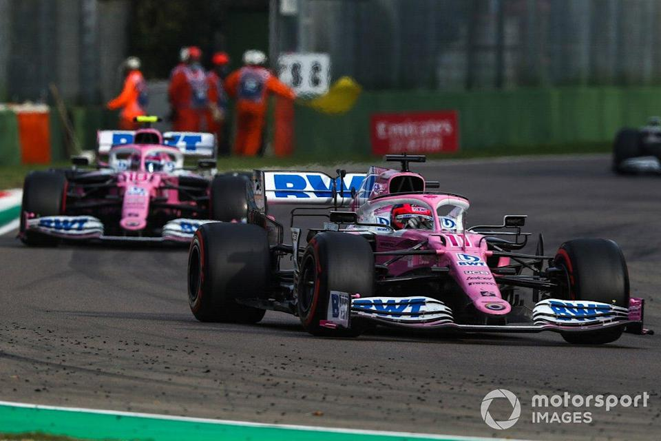 "Sergio Perez, Racing Point RP20, Lance Stroll, Racing Point RP20<span class=""copyright"">Charles Coates / Motorsport Images</span>"