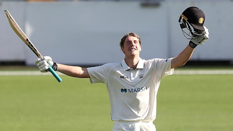 Cameron Green's late order heroics salvaged WA a draw against Queensland in the Sheffield Shield