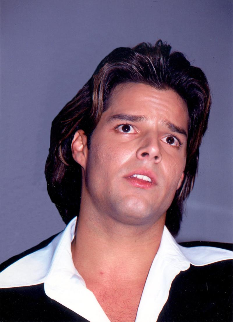 "Ricky Martin presents his album ""A medio vivir"" in 1995, the year he would conquer the charts with his single ""Maria""."