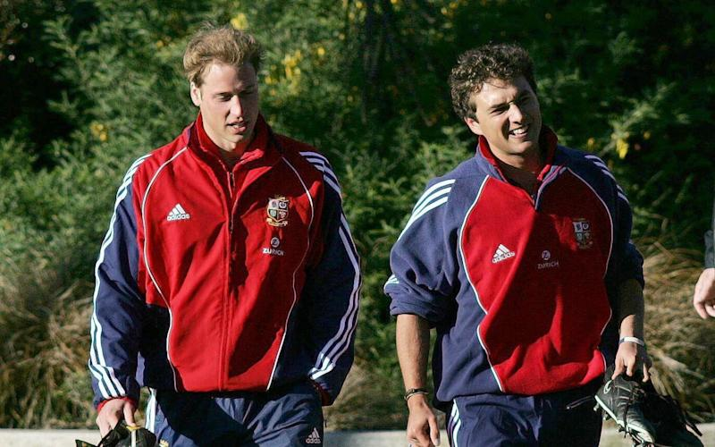 The Duke of Cambridge with his friend Thomas Van Straubenzee, on a rugby trip to New Zealand in 2005 - Credit: David Davies/PA