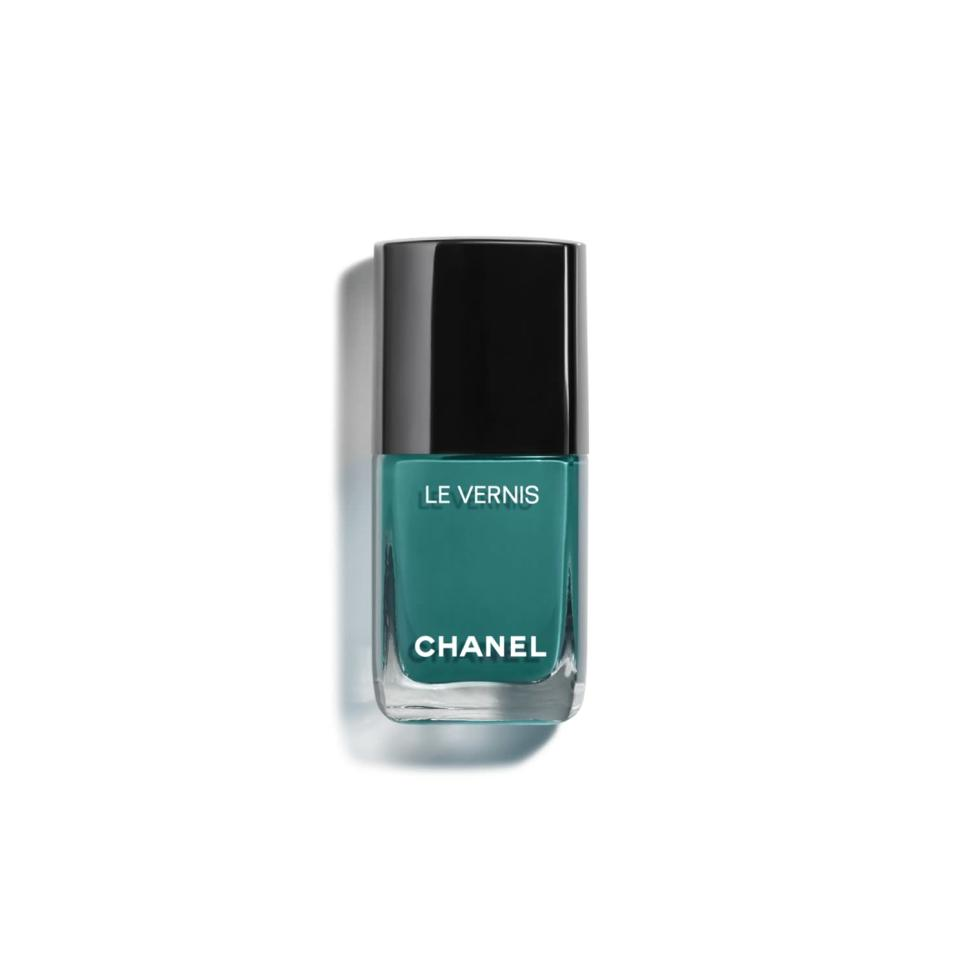 """<p>It's time for you to speak up, Taurus! When in doubt of what to say, utilize your earthly kindness to help you find the right words to express your heart. Wearing this green shade on your nails will give you the confidence you need to let your emotions be known.</p> <p><strong>To shop: </strong>$28; <a href=""""https://click.linksynergy.com/deeplink?id=93xLBvPhAeE&mid=39938&murl=https%3A%2F%2Fwww.chanel.com%2Fus%2Fmakeup%2Fp%2F159755%2Fle-vernis-longwear-nail-colour%2F&u1=ISTheOneNailColorEachSignShouldTryOutforCancerSeasonkgreavesNaiGal4524900202106I"""" rel=""""sponsored noopener"""" target=""""_blank"""" data-ylk=""""slk:chanel.com"""" class=""""link rapid-noclick-resp"""">chanel.com</a></p>"""
