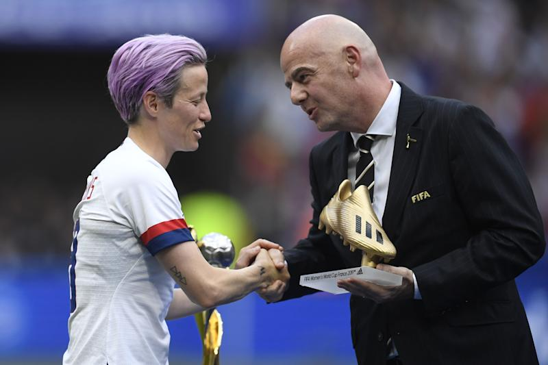 Carney backs Rapinoe to win FIFA Best award after World Cup heroics