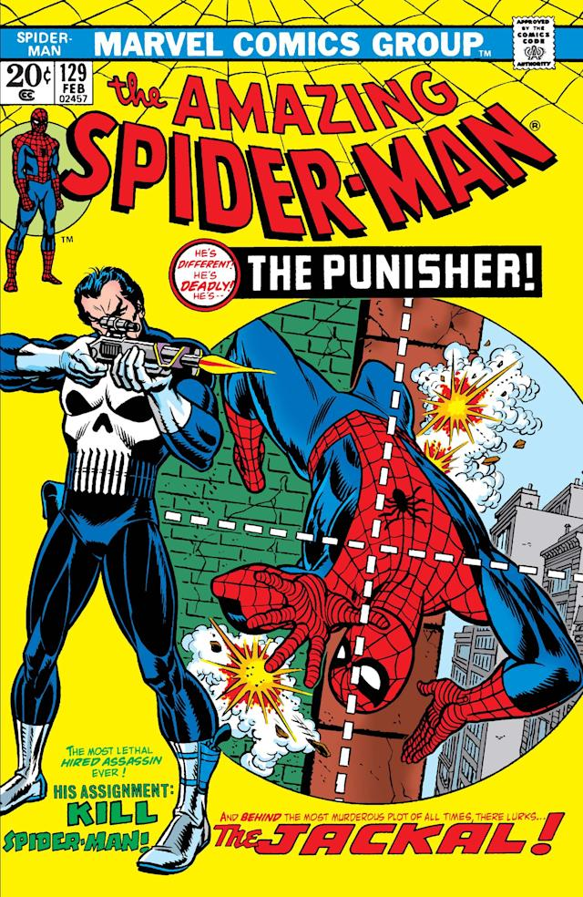 """The Punisher made his first appearance in """"The Amazing Spider-Man"""" Issue #129 (Marvel)"""