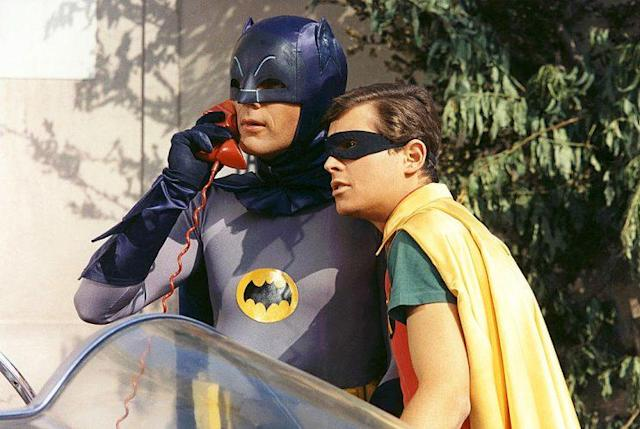 Adam West as Batman and Burt Ward as Robin in 'Batman' (Photo: Silver Screen Collection/Getty Images)