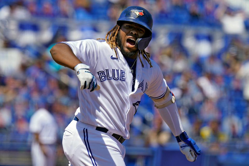 Vladimir Guerrero Jr. has adjusted his swing to produce more fly balls, and as a result he's tied for the major league lead in home runs.