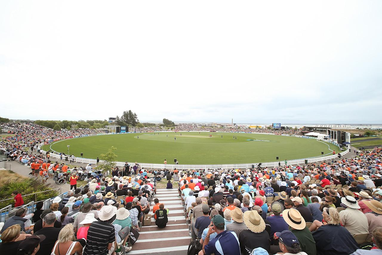 NELSON, NEW ZEALAND - JANUARY 04:  General view during game four of the One Day International Series between New Zealand and the West Indies at Saxton Field on January 4, 2014 in Nelson, New Zealand.  (Photo by Martin Hunter/Getty Images)