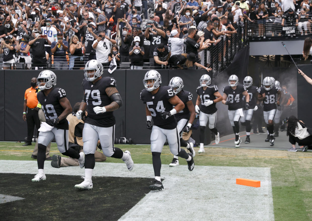 The Raiders will play in front of a home crowd in Las Vegas for the first time in the regular season on Monday night. (Photo by Ethan Miller/Getty Images)