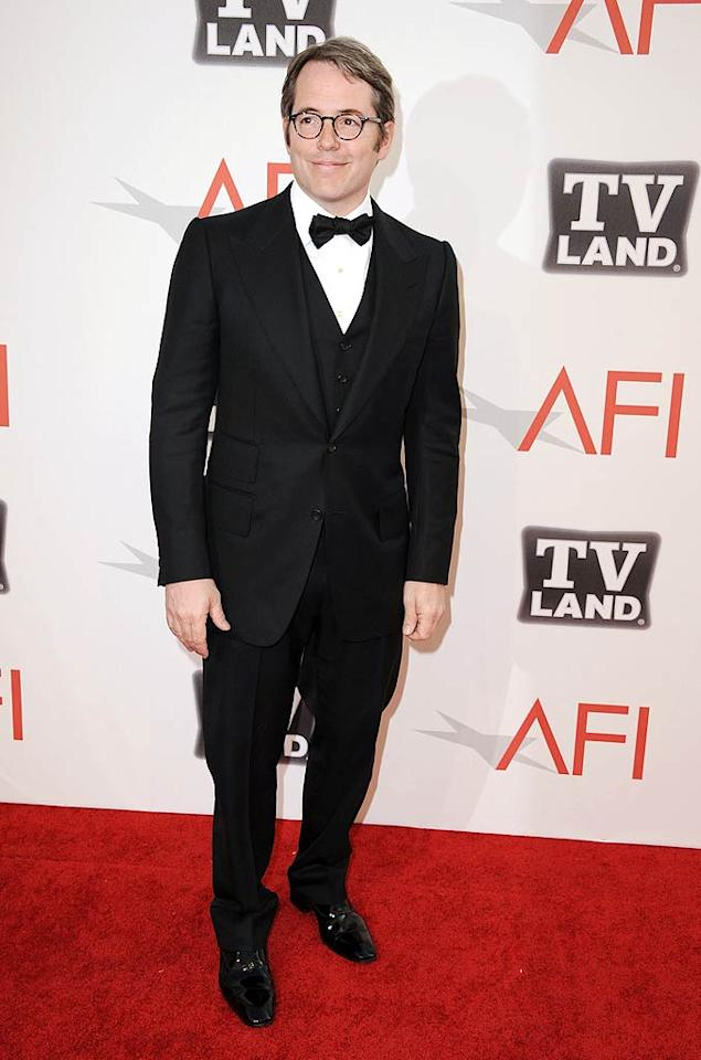 """Matthew Broderick -- who was there sans wife Sara Jessica Parker -- was also asked to make a speech honoring his co-star in the 1989 Civil War drama """"Glory."""" Steve Granitz/<a href=""""http://www.wireimage.com"""" target=""""new"""">WireImage.com</a> - June 9, 2011"""
