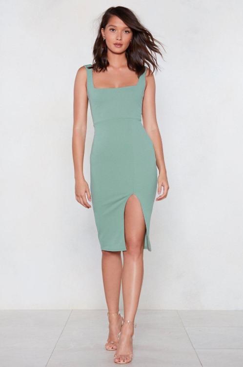 Nasty Gal Squarin' to Go Midi Dress - $19.20 down from $48.00