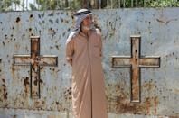 Ali Mansour, 77, has been tending Bell's grave in Baghdad's Protestant cemetery since inheriting the job from his stepfather