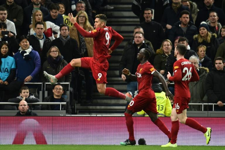 Flying Firmino: Roberto Firmino put Liverpool into the lead at Tottenham