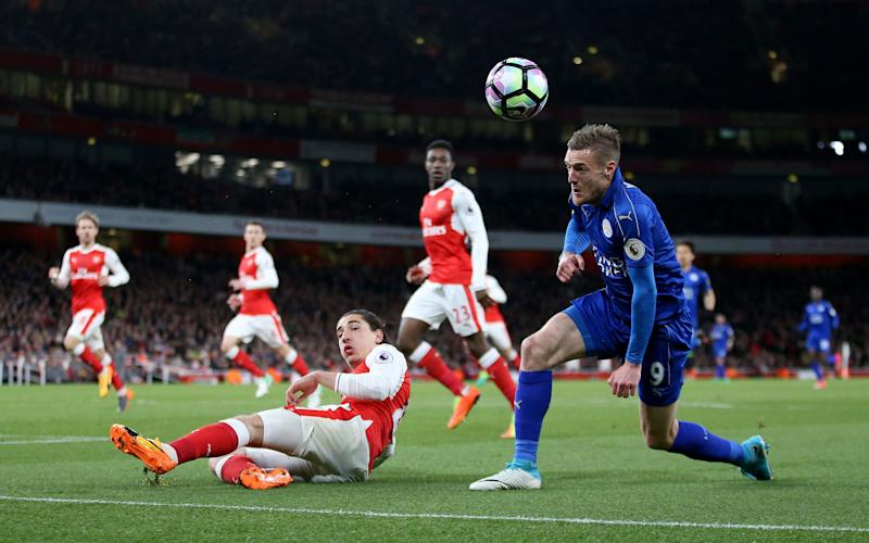 Arsenal vs Leicester Jamie Vardy - Credit: PA