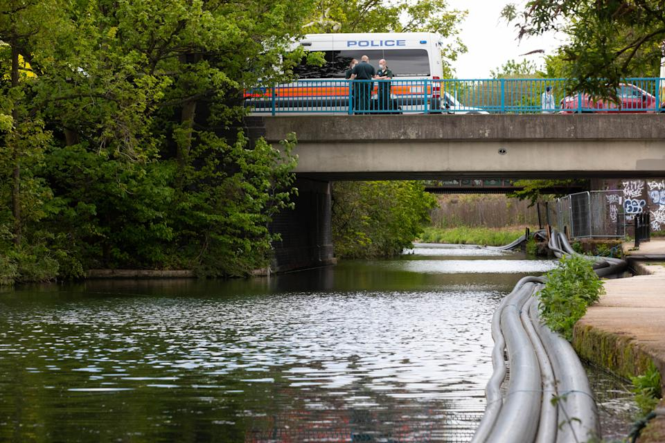 Emergency services were called to the Grand Union Canal in London on Sunday afternoon. (PA)