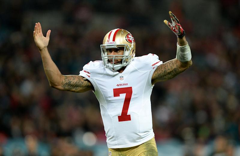 Kaepernick played for the San Francisco 49ers but was released from the NFL in 2016 (PA)