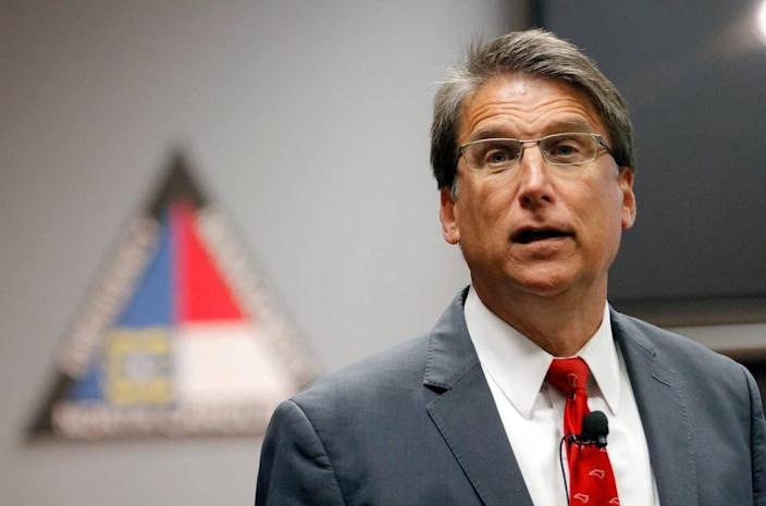 Former Gov. Pat McCrory on Nov. 1, 2016 at the Emergency Operations Center in Raleigh.