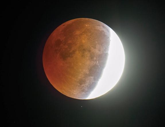 A total lunar eclipse will rise on April 4, 2015, but totality will only last for a very short amount of time.