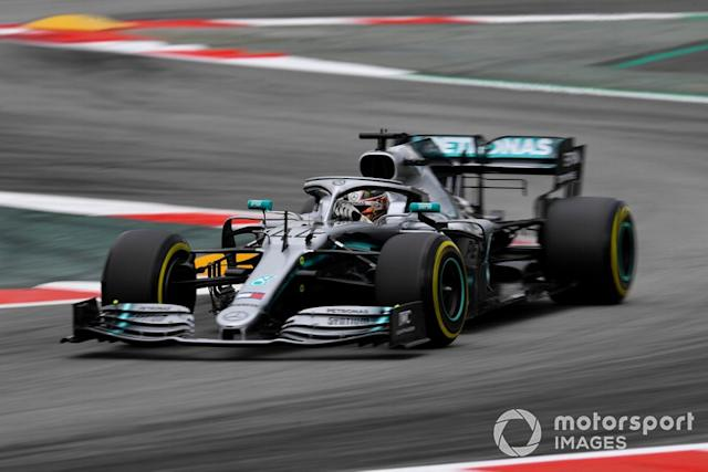 "Barcelona: Lewis Hamilton (Mercedes) <span class=""copyright"">Simon Galloway / Sutton Images</span>"