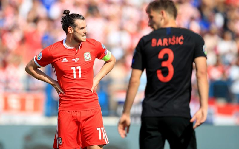 Gareth Bale looked a bit rusty in Wales' defeat to Croatia  - PA