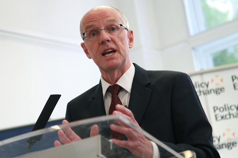 The schools minister, Nick Gibb, has said that without moderation there would have been grade inflation of 12 per cent (Rex)
