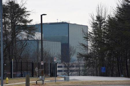 The National Security Agency (NSA) headquarters is seen in Fort Meade, Maryland
