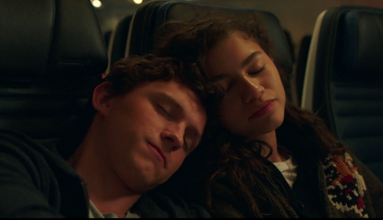 Peter Parker (Tom Holland) and MJ (Zendaya) catch a nap in a deleted scene from 'Spider-Man: Far From Home' (Sony)