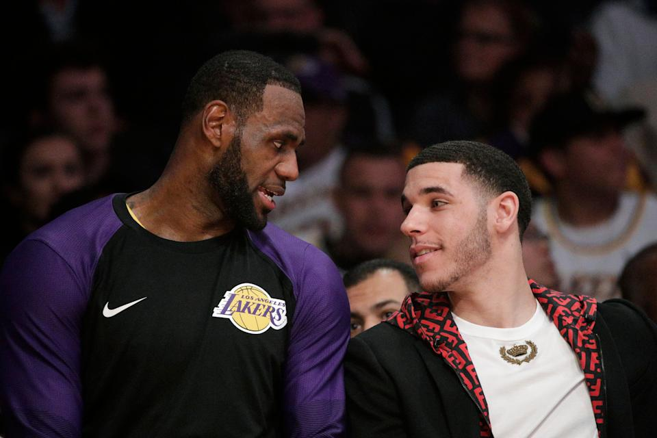 LeBron James and Lonzo Ball are at the center of several Lakers controversies. (AP)