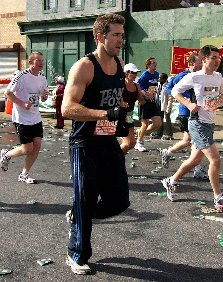 "Ryan Reynolds is unbelievably hot. Running the New York City marathon in order to raise money and support for Parkinson's Disease is even hotter. Lee Brown/<a href=""http://www.splashnewsonline.com"" target=""new"">Splash News</a> -November 2, 2008"