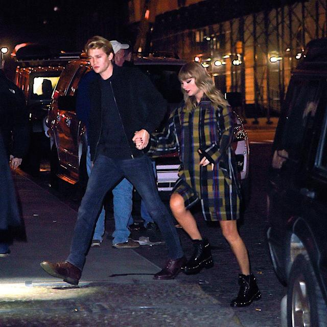 """<p>""""I'm sorry, but the old Taylor can't come to the phone right now,"""" Swift sings in her song """"Look What You Made Me Do."""" What she doesn't say is it's because she's been too busy hanging out with her British actor boyfriend! Although the pop star reportedly tried to keep <a href=""""https://www.yahoo.com/entertainment/taylor-swift-dating-british-actor-joe-alwyn-report-000344196.html"""" data-ylk=""""slk:the romance;outcm:mb_qualified_link;_E:mb_qualified_link"""" class=""""link rapid-noclick-resp newsroom-embed-article"""">the romance</a> under wraps, it was reported in May, and by December, they <a href=""""http://people.com/music/taylor-swift-joe-alwyn-cuddle-ed-sheeran-jingle-bell-ball/"""" rel=""""nofollow noopener"""" target=""""_blank"""" data-ylk=""""slk:weren't even trying to hide it"""" class=""""link rapid-noclick-resp"""">weren't even trying to hide it</a>. (Photo: Gachie/NPEx/Splash News) </p>"""