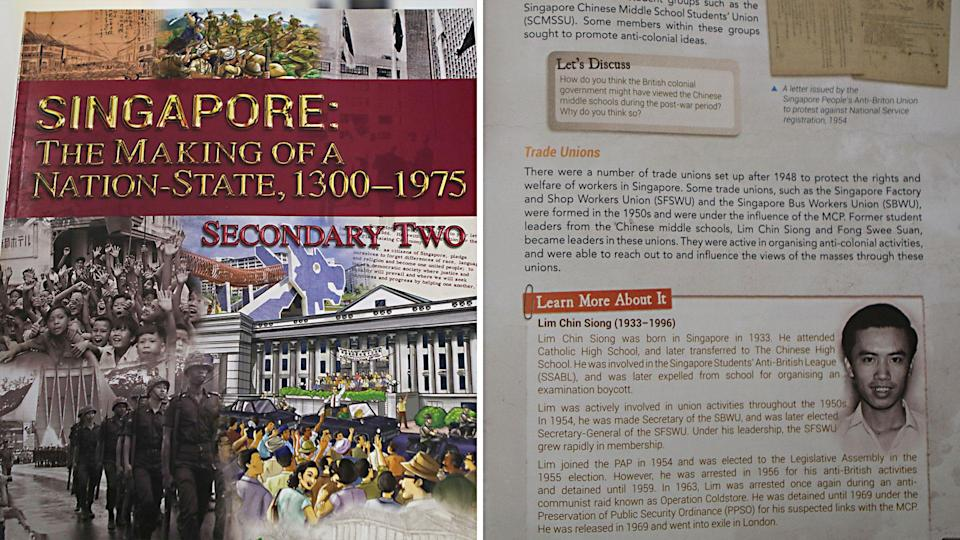 Singapore's history Secondary Two textbook