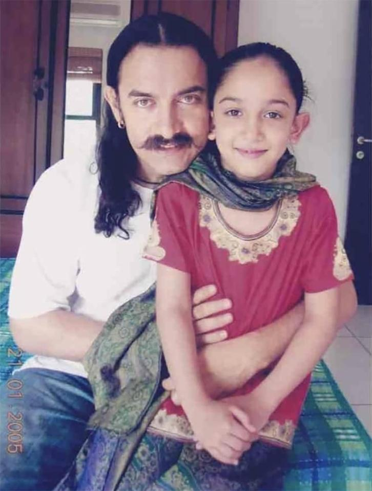 Aamir Khan shared an adorable throwback photo to wish Ira Khan on her daughter. This picture of Aamir, which is too cute for words, has gone viral on social media. (Image: Instagram)