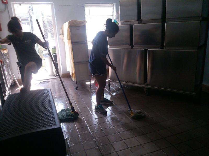In addition to caring for the animals, the South Florida Wildlife Center staff pitched in to clean up after the storm. (humanesociety.org)