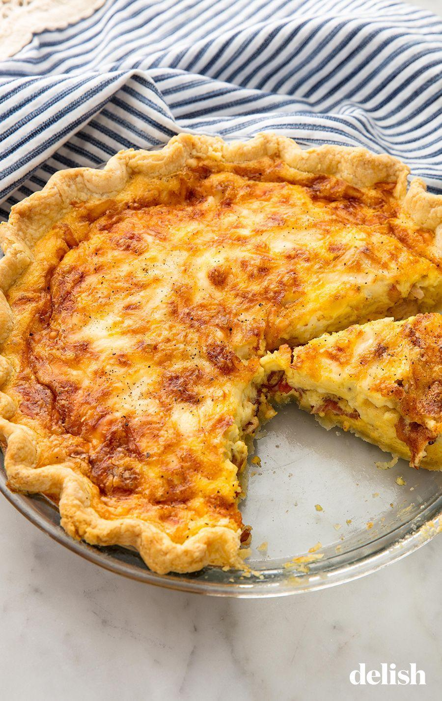 """<p>Master this quiche and leave the brunch crowds in the dust.</p><p>Get the recipe from <a href=""""https://www.delish.com/cooking/recipe-ideas/recipes/a58388/easy-quiche-lorraine-recipe/"""" rel=""""nofollow noopener"""" target=""""_blank"""" data-ylk=""""slk:Delish"""" class=""""link rapid-noclick-resp"""">Delish</a>. </p>"""