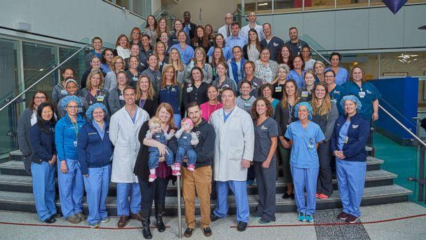 PHOTO: Erin and Abby Delaney underwent a rare separation surgery at the Children's Hospital of Philadelphia in June. (Children's Hospital of Philadelphia)