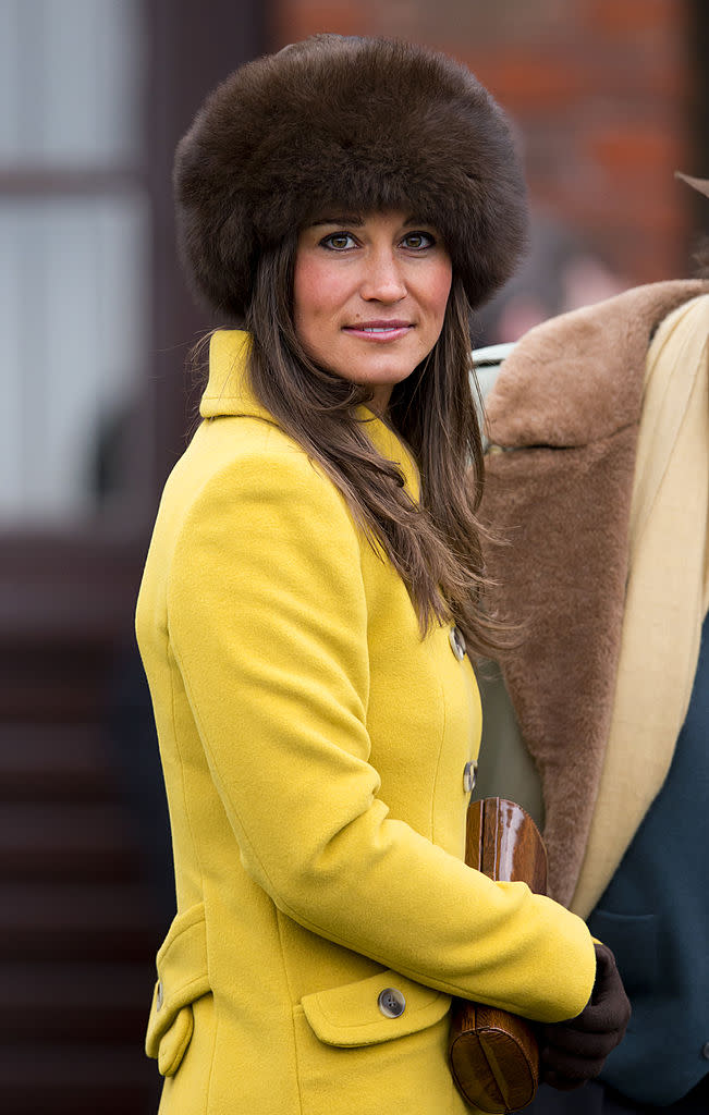 Pippa Middleton in London wearing a brown fur hat. (Photo: Indigo/Getty Images)