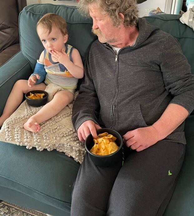 Richard Baron, 64, was diagnosed with lung cancer on April 9. The cancer has now spread to his brain. His surgery has been postponed due to a full Regina ICU.  (Submitted by Ashleigh Woytuik - image credit)