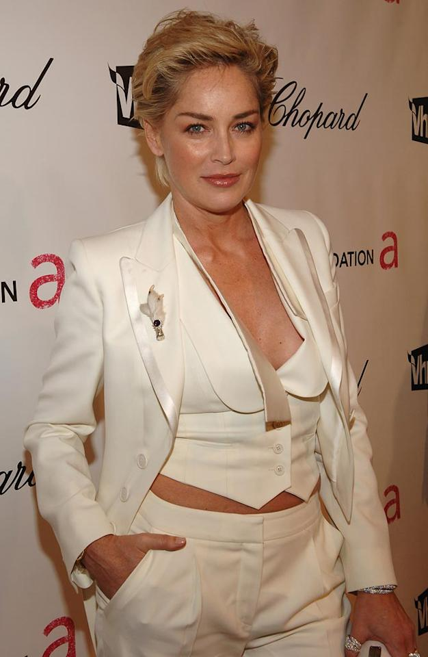 "<a href=""http://movies.yahoo.com/movie/contributor/1800012231"">Sharon Stone</a> attends the 16th Annual Elton John AIDS Foundation Oscar Party at the Pacific Design Center in West Hollywood - 02/24/2008"