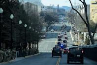 <p>The motorcade proceeds to Arlington National Cemetery, where Biden and Harris placed a wreath at the Tomb of the Unknown Soldier. </p>