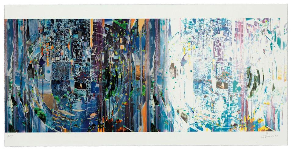 <p>Sze worked around the project's size limits (15 X 15 inches) by turning her print into a gatefold. </p>
