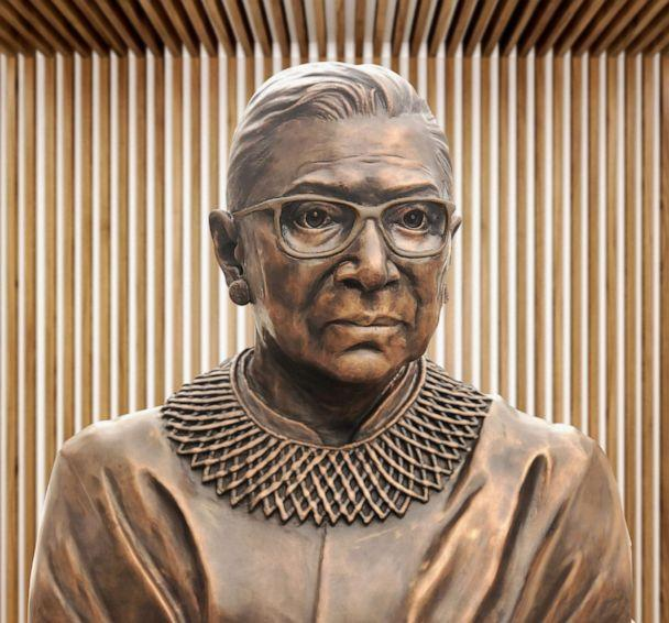 PHOTO: A bronze statue of Ruth Bader Ginsburg will be unveiled in Brooklyn, New York, in March 2021. (Gillie and Marc<p>)
