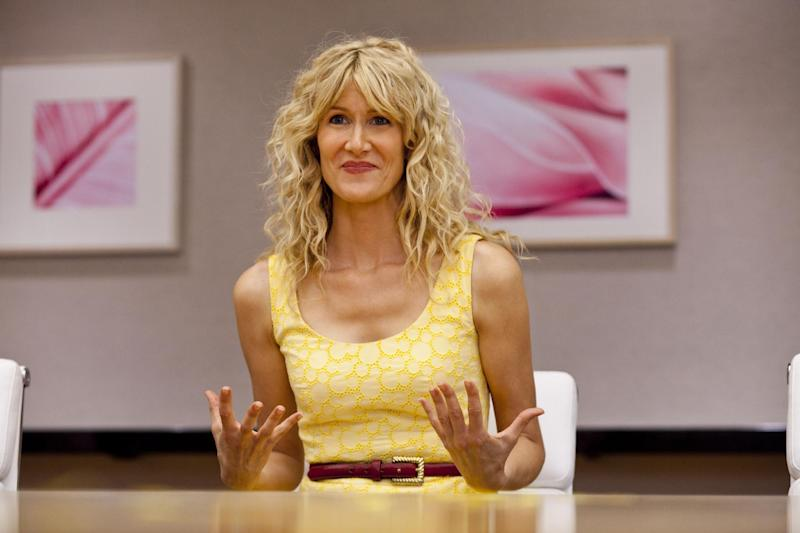 """In this publicity photo released by HBO, actress, Laura Dern, is shown in a scene from HBO's 'Enlightened."""" Dern failed to land an Emmy nomination on Thursday, July 19, 2012, for her role on the HBO series. The 64th annual Primetime Emmy Awards will be presented Sept. 23 at the Nokia Theatre in Los Angeles, hosted by Jimmy Kimmel and airing live on ABC. (AP Photo/HBO, Prashant Gupta)"""